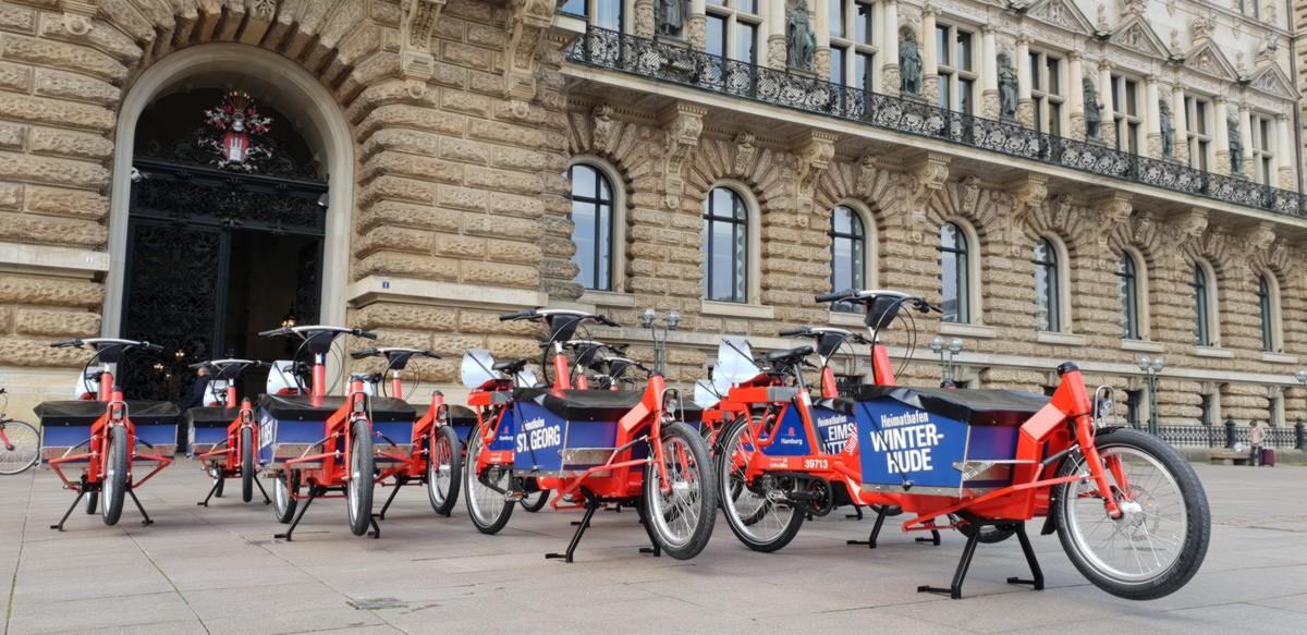 Lastenpedelecs sind integraler Bestandteil von StadtRAD Hamburg
