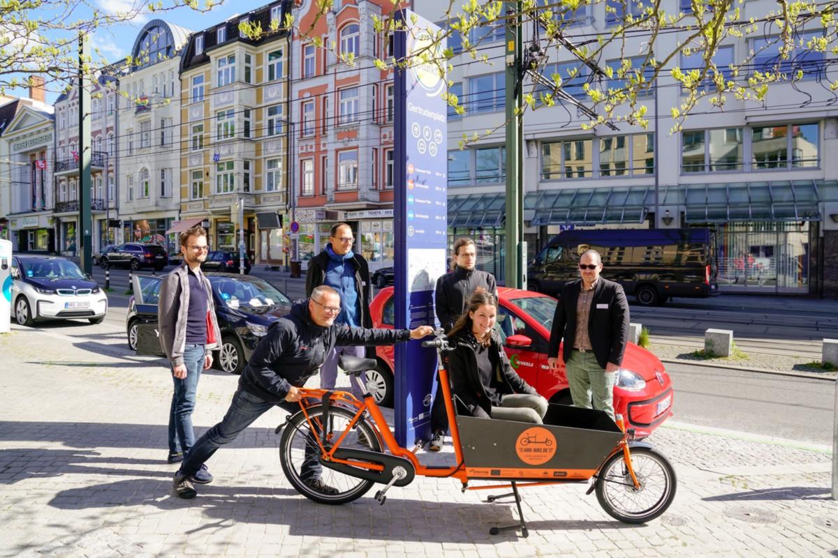 Eröffnung der Mobilpunkte und des Lastenradverleihsystems HRO-BIKE, Rostock